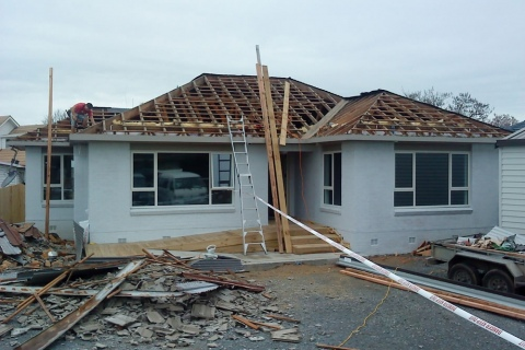 Re-roofing a home
